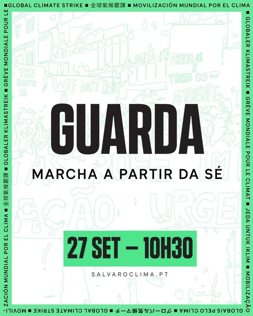 Cartaz Greve Climática Global - Guarda 27 Setembro 2019