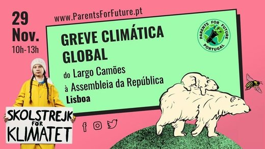 cartaz Greve Climática Global - Lisboa 29 Novembro 2019 Parents For Future Portugal