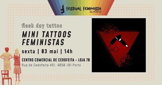 Cartaz Mini Tattoos Feministas 3 Maio 2019 Festival Feminista do Porto