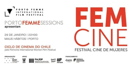 Cartaz PORTO FEMME Sessions #24 | Maus Hábitos 29 Janeiro 2020 PORTO FEMME - International Film Festival Porto