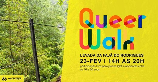 Cartaz QueerWalk | Levada da Fajã do Rodrigues 2019-02-23